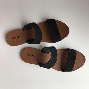 Merona black strap sandals