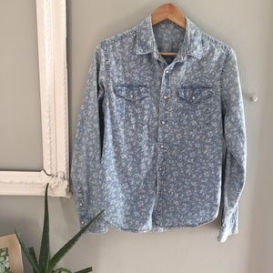 Gap 1969 Patterned Chambray Shirt