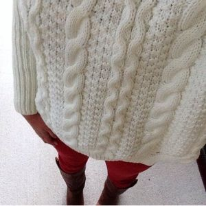Sweaters - Turtleneck Cable Knit Sweater
