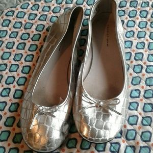 predictions Shoes - Worn Once Silver Ballerina Slippers