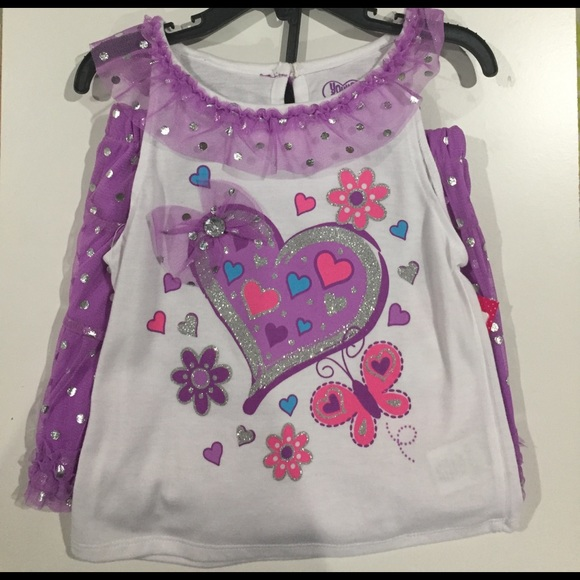 f6335a0b0ae1 Girls 3 Piece Skirt Set Size 6. NWT. Young Hearts