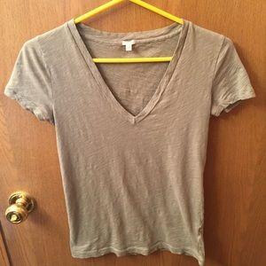 J. Crew Grey Short Sleeve Shirt