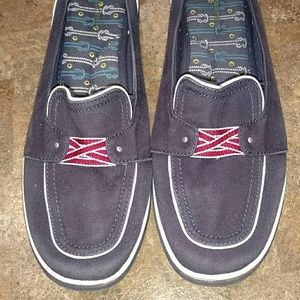 Grasshoppers Shoes - Navy slip on shoes
