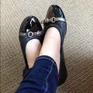 Agl Shoes - AGL flats (black with silver buckles)