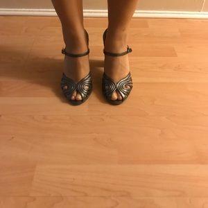Melissa Shoes - Melissa Gun metal gray silver jelly open toe heels
