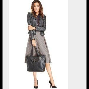 JOA Dresses & Skirts - JOA Jacquard Dot Circle Skirt