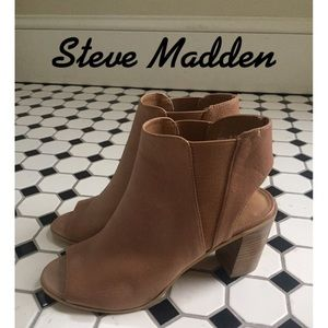 Steve Madden Ankle Boots.  Open Toe and Heel. NWOT