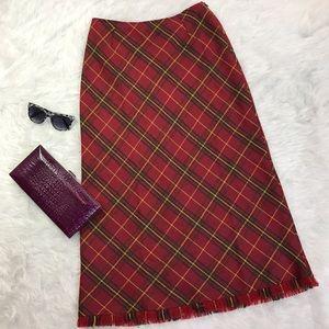 Isabel De Pedro Dresses & Skirts - Isabel De Pedro Wool Alpaca Blend Plaid Maxi Skirt
