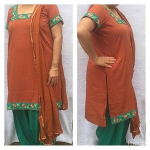 Dresses & Skirts - Brown and green Indian dress