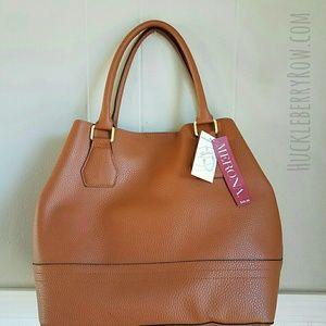 Merona Handbags - Merona Leather PU Bucket Tote Handbag