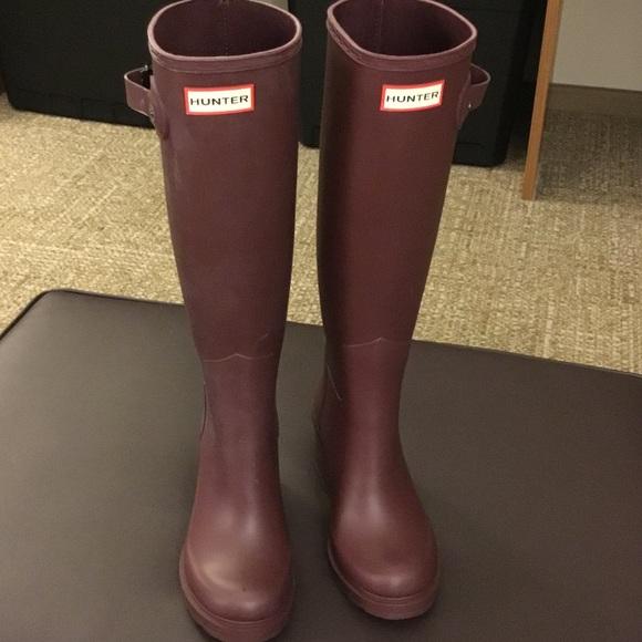 c5106dc9ebb6 Hunter Shoes - Hunter Original Refined Wedge Rain Boot (Women 6)
