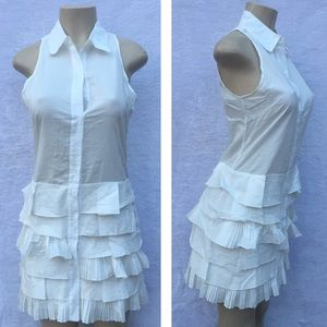 Very J Dresses & Skirts - White front open cotton dress