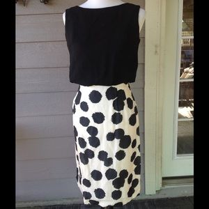 Authentic Original Vintage Style Dresses & Skirts - Vintage 60's black/white pencil bombshell dress