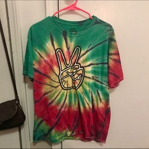 Other - Rasta Peace Sign Tie-Dye T-Shirt