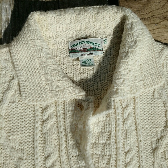 73 off aran crafts other sale vintage cream fisherman for Aran crafts fisherman sweater