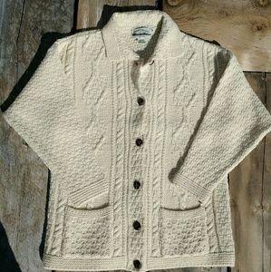 Aran Crafts Other - Sale↓ VINTAGE Cream Fisherman Sweater sz Large
