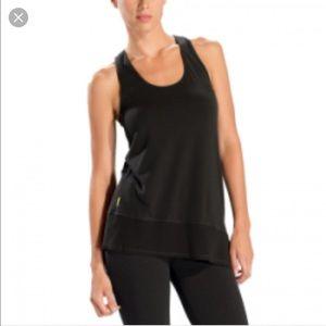 Lole Tops - Lole black asymmetric cross-back tank top