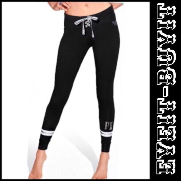 08f9b910f55c9 PINK Victoria's Secret Pants | Pink Vs Laceup Campus Legging | Poshmark