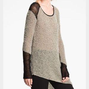 Helmut Lang Sweaters - Helmut Lang Boucle Knit Asymmetrical Sweater