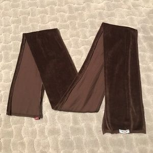 Hard Tail Accessories - LIKE NEW Hard Tail Brown Velour Scarf
