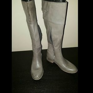 MIA Shoes - Distressed Taupe Riding Boots