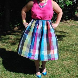 Topshop Dresses & Skirts - Topshop Limited Edition Taffeta Picnic Midi Skirt