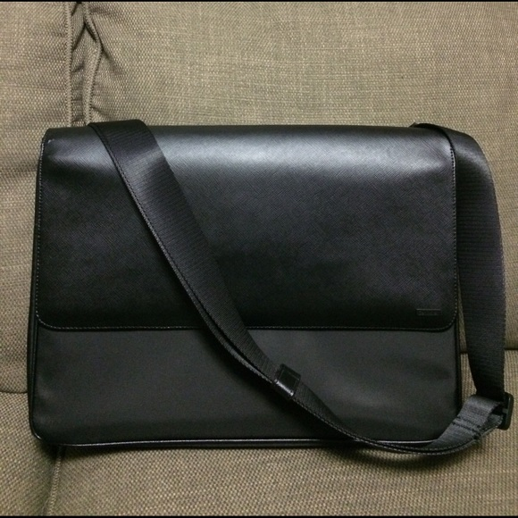 Calvin Klein Bags   Messenger Bag Nylonsaffiano Leather   Poshmark 89620f7d89