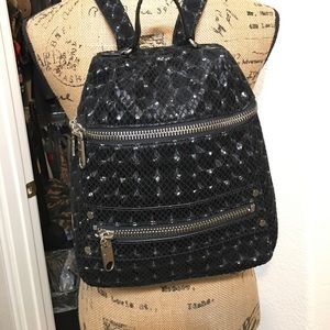 Milly Handbags - MILLY Gorgeous psychedelic Black Backpack