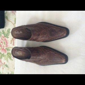 MIA Shoes - MIA LeatherMules Bootssz 10 m  Cowboy Western