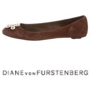 Diane Von Furstenberg Brown suede ballet flats 8.5