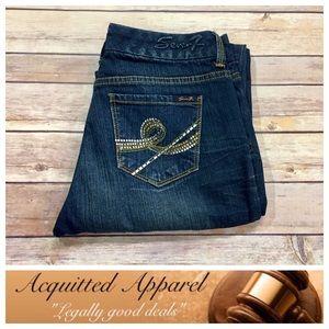 "Seven7 Denim - [Seven7] Brand Bling Bootcut Jeans 34"" inseam"
