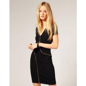 Ted Baker Chic Zipper Detail Dress sz 4 (US 12)