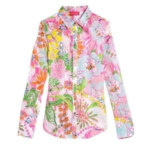 Lilly Pulitzer for Target Tops - Lilly Pulitzer for Target Nosie Posey Button Down