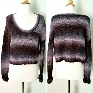Ecotè Ombre Purple Cropped Sweater