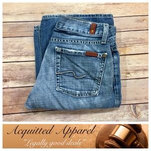 """7 For All Mankind Denim - [7FAMK] 7 For All Mankind Bootcut Jeans 33"""" inseam"""