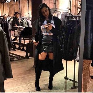 Dresses & Skirts - ❌sold❌ Asymmetrical mini leather skirt
