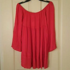 BRAND NEW Red Off The Shoulder Summer Dress