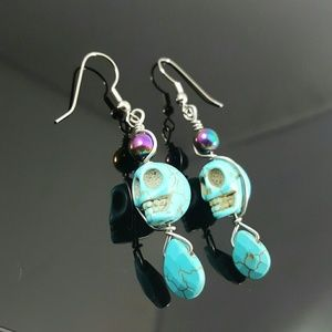 TURQUOISE stress, HEMATITE absorb negative energy