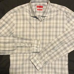 HUGO Other - HUGO Miles Sharp Gray Button Front Shirt 15 1/2