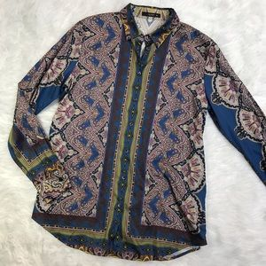 Etro Tops - Etro Stretch Cotton Paisley Pattern Shirt