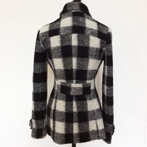 Bailey 44 Jackets & Blazers - Bailey 44 Black Wool Plaid Peacoat 6 Medium