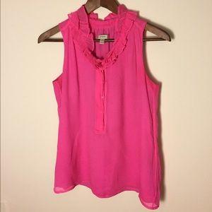 J. Crew Tops - Hot pink J Crew sleeveless blouse