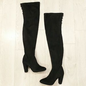 ASOS Shoes - ASOS Black Over-the-Knee Suede Boots