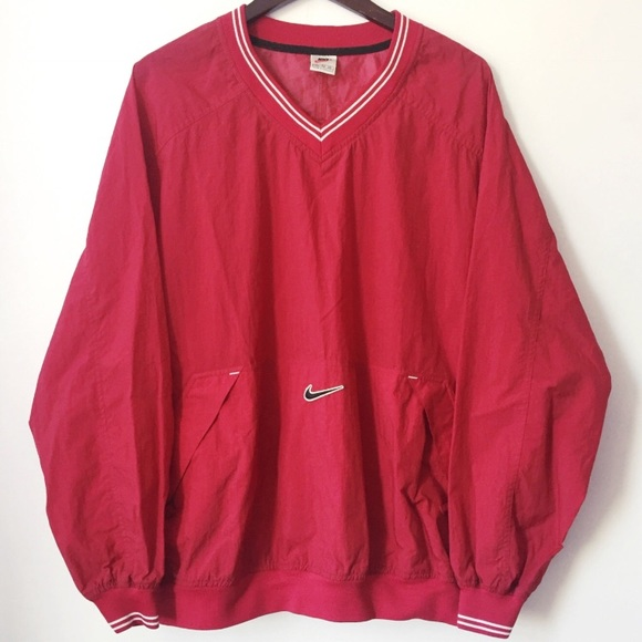 42e20036cd30 Vintage Nike Pullover V-Neck Windbreaker. M 58abae258f0fc4f0931cd224