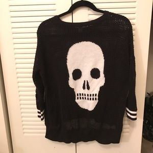 Autumn Cashmere Sweaters - Autumn cashmere light skull knit sweater
