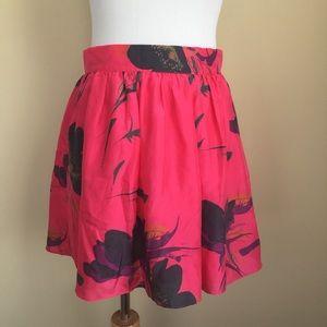 Sam & Lavi Dresses & Skirts - Sam & Lavi floral silk mini skirt sz M