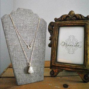 Jewelry - 🌖 Semi Precious Stone in White Druzy & Crescent