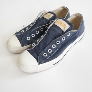 Converse Navy Blue Slip On Sneakers
