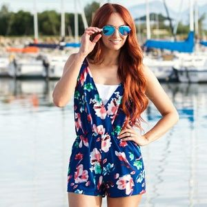 Other - Floral Swim Romper Cover-Up