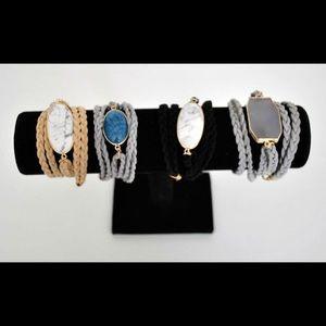 Jewelry - 🌗 New Semi Precious Stone Wrap Bracelet